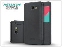 Samsung A900 Galaxy A9 (2016) oldalra nyíló flipes tok - Nillkin Sparkle - fekete