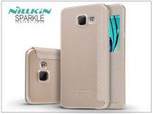 Samsung A310F Galaxy A3 (2016) oldalra nyíló flipes tok - Nillkin Sparkle - golden