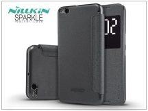 HTC One X9 oldalra nyíló flipes tok - Nillkin Sparkle - fekete