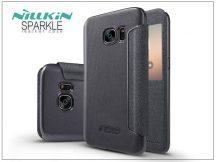 Samsung G930F Galaxy S7 oldalra nyíló flipes tok - Nillkin Sparkle - fekete