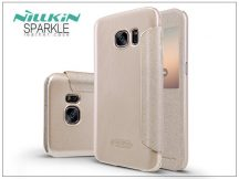 Samsung G930F Galaxy S7 oldalra nyíló flipes tok - Nillkin Sparkle - golden