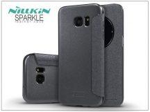 Samsung G935F Galaxy S7 Edge oldalra nyíló flipes tok - Nillkin Sparkle - fekete