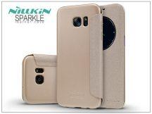 Samsung G935F Galaxy S7 Edge oldalra nyíló flipes tok - Nillkin Sparkle - golden