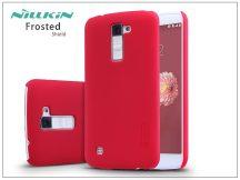 LG K10 K420N hátlap képernyővédő fóliával - Nillkin Frosted Shield - piros