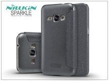 Samsung J120F Galaxy J1 (2016) oldalra nyíló flipes tok - Nillkin Sparkle - fekete