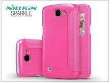 LG K4 K120E oldalra nyíló flipes tok - Nillkin Sparkle - pink