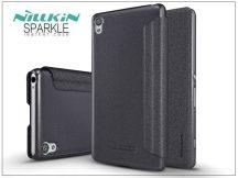 Sony Xperia XA (F3112/F3116) oldalra nyíló flipes tok - Nillkin Sparkle - fekete