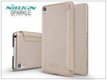 Sony Xperia XA (F3112/F3116) oldalra nyíló flipes tok - Nillkin Sparkle - gold