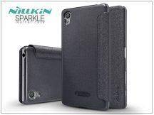 Sony Xperia X (F5121) oldalra nyíló flipes tok - Nillkin Sparkle - fekete