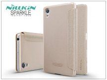 Sony Xperia X (F5121) oldalra nyíló flipes tok - Nillkin Sparkle - gold
