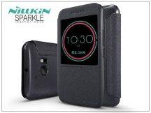 HTC 10 oldalra nyíló flipes tok - Nillkin Sparkle - fekete