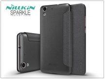 Huawei Y6 II/Honor 5A oldalra nyíló flipes tok - Nillkin Sparkle - fekete