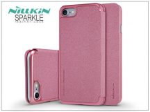 Apple iPhone 7/iPhone 8 oldalra nyíló flipes tok - Nillkin Sparkle - pink
