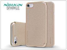 Apple iPhone 7/iPhone 8 oldalra nyíló flipes tok - Nillkin Sparkle - gold