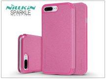 Apple iPhone 7 Plus/iPhone 8 Plus oldalra nyíló flipes tok - Nillkin Sparkle - pink