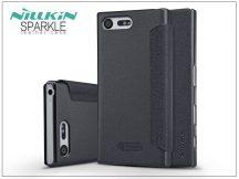 Sony Xperia X Compact (F5321) oldalra nyíló flipes tok - Nillkin Sparkle - fekete