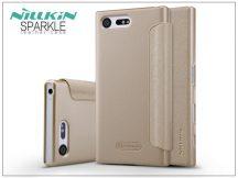 Sony Xperia X Compact (F5321) oldalra nyíló flipes tok - Nillkin Sparkle - gold