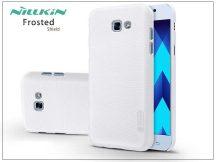 Samsung A520F Galaxy A5 (2017) hátlap képernyővédő fóliával - Nillkin Frosted Shield - fehér