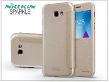 Samsung A520F Galaxy A5 (2017) oldalra nyíló flipes tok - Nillkin Sparkle - gold