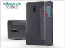 Nokia 6 oldalra nyíló flipes tok - Nillkin Sparkle - fekete