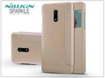 Nokia 6 oldalra nyíló flipes tok - Nillkin Sparkle - gold
