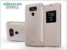 LG G6 H870 oldalra nyíló flipes tok - Nillkin Sparkle - gold