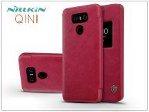 LG G6 H870 oldalra nyíló flipes tok - Nillkin Qin - piros