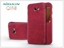 Samsung A320F Galaxy A3 (2017) oldalra nyíló flipes tok - Nillkin Qin - piros