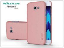 Samsung A320F Galaxy A3 (2017) hátlap képernyővédő fóliával - Nillkin Frosted Shield - rose gold