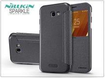 Samsung A320F Galaxy A3 (2017) oldalra nyíló flipes tok - Nillkin Sparkle - fekete