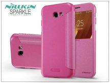 Samsung A320F Galaxy A3 (2017) oldalra nyíló flipes tok - Nillkin Sparkle - pink