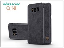 Samsung G950F Galaxy S8 oldalra nyíló flipes tok - Nillkin Qin - fekete