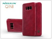 Samsung G950F Galaxy S8 oldalra nyíló flipes tok - Nillkin Qin - piros