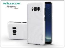 Samsung G955F Galaxy S8 Plus hátlap képernyővédő fóliával - Nillkin Frosted Shield - fehér