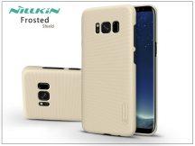 Samsung G955F Galaxy S8 Plus hátlap képernyővédő fóliával - Nillkin Frosted Shield - gold