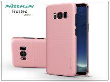 Samsung G955F Galaxy S8 Plus hátlap képernyővédő fóliával - Nillkin Frosted Shield - rose gold
