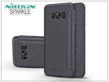 Samsung G955F Galaxy S8 Plus oldalra nyíló flipes tok - Nillkin Sparkle - fekete