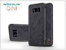 Samsung G955F Galaxy S8 Plus oldalra nyíló flipes tok - Nillkin Qin - fekete
