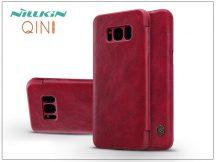 Samsung G955F Galaxy S8 Plus oldalra nyíló flipes tok - Nillkin Qin - piros