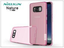 Samsung G955F Galaxy S8 Plus szilikon hátlap - Nillkin Nature - pink