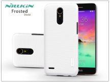 LG K10 M250N (2017) hátlap képernyővédő fóliával - Nillkin Frosted Shield - fehér