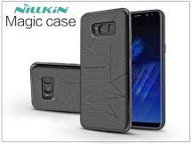 Samsung G955F Galaxy S8 Plus hátlap beépített Qi adapterrel, vezeték nélküli töltő állomáshoz - Nillkin Magic Case - fekete