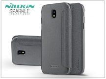 Samsung J730F Galaxy J7 (2017) oldalra nyíló flipes tok - Nillkin Sparkle - fekete