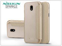 Samsung J730F Galaxy J7 (2017) oldalra nyíló flipes tok - Nillkin Sparkle - gold