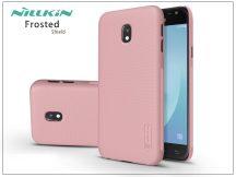 Samsung J330F Galaxy J3 (2017) hátlap képernyővédő fóliával - Nillkin Frosted Shield - rose gold