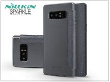 Samsung N950F Galaxy Note 8 oldalra nyíló flipes tok - Nillkin Sparkle - fekete