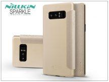Samsung N950F Galaxy Note 8 oldalra nyíló flipes tok - Nillkin Sparkle - gold