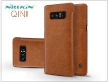 Samsung N950F Galaxy Note 8 oldalra nyíló flipes tok - Nillkin Qin - barna