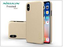 Apple iPhone X hátlap képernyővédő fóliával - Nillkin Frosted Shield - gold