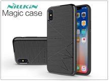 Apple iPhone X hátlap beépített mágnessel - Nillkin Magic Case - fekete
